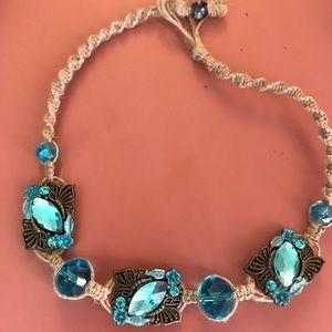 Hand made hemp choker necklace